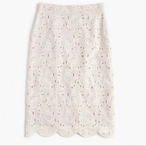 JCREW Collection pencil skirt in Austrian lace